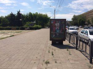 22, пересечение пр.Ленина и ул.Гагарина, юго-восточный угол (конструкция 1)сторона Б