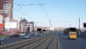 Завенягина ул.в районе ТЦ Каскад конструкция 1 сторона Б